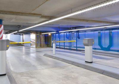 LED lijnverlichting in- uitrit IJdok Amsterdam